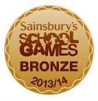 Saibnsburys School Games Bronze 2013-14